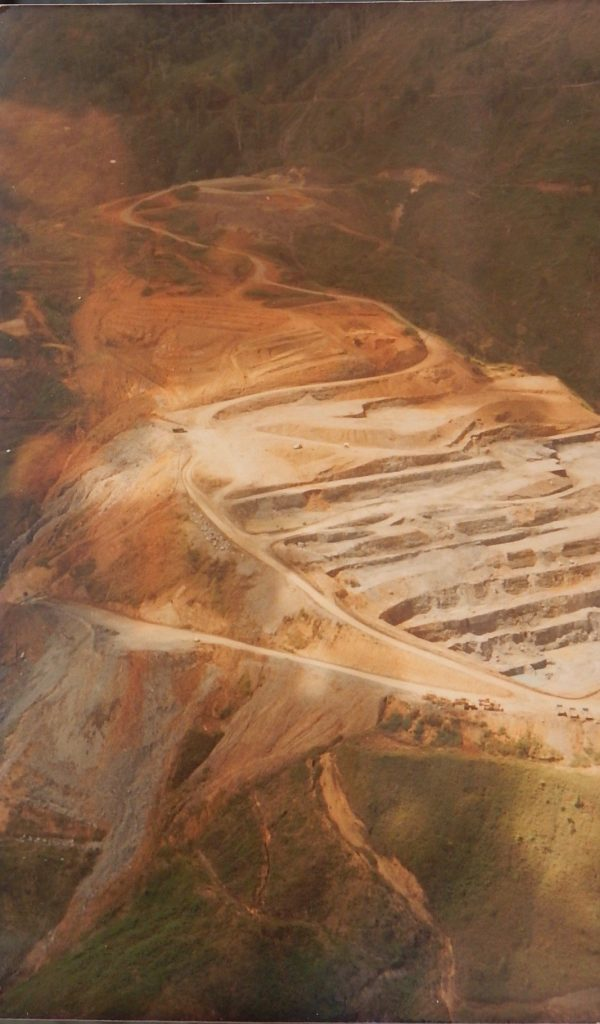 a huge open-pit mine
