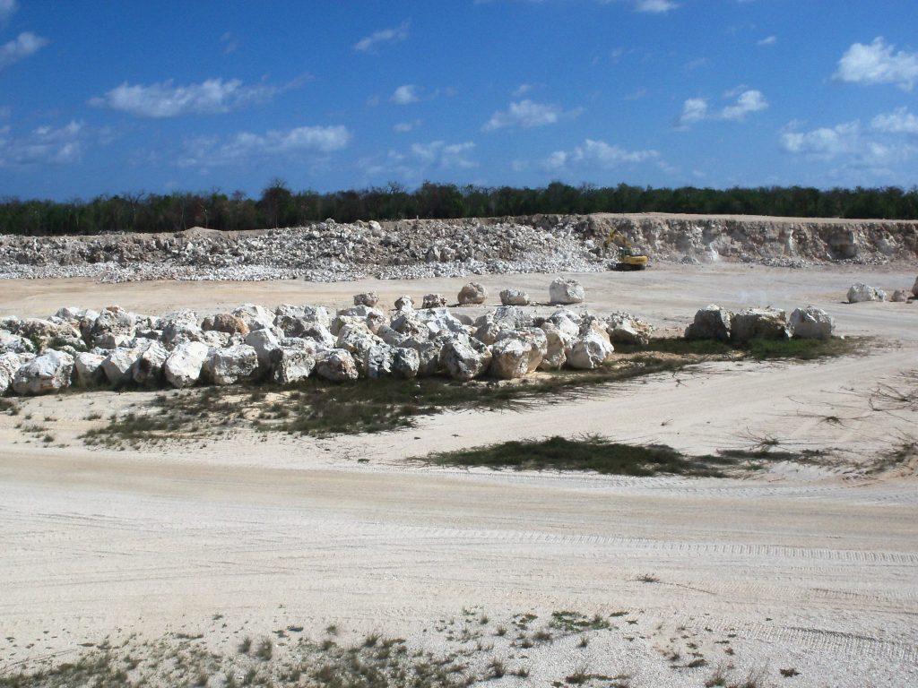 Shallow open pit (limestone)